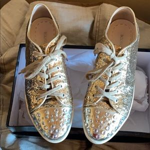 Boutique 9 Metallic Gold Lifestyle Casual Shoe - 8